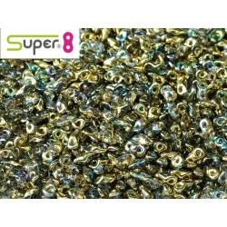 Super8® 2,2 x 4,7 mm Crystal Golden Rainbow  -  5  g