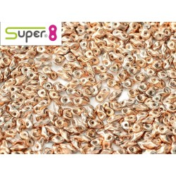 Super8® 2,2 x 4,7 mm  Chalk White Capri Gold Full -  5  g