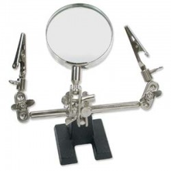 """Third Hand"" with Magnifier and Clips - 1 pc"