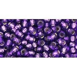 Rocailles Toho 8/0 Silver-Lined Purple