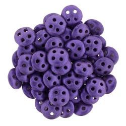Perline QuadraLentil  4 fori  6 mm   Metallic Suede Purple  - 5 g