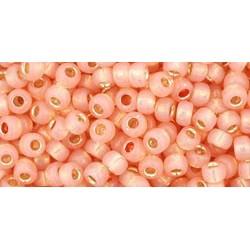 Toho Round 8/0 Silver-Lined Milky Peach