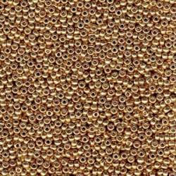 Miyuki Round Seed Beads  8/0  Duracoat Galvanized Champagne  -  10 g- code 4204