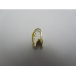 Clips Acciaio  8x15x7 mm  Color Oro- 4 pz
