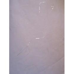 Carta di Riso 64x47 cm  Bianca con Fili Argentati - 1  foglio