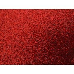 EVA Foam 20x30 cm Red Glitter  - 1 Sheet