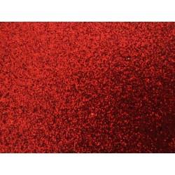 Foglio Mousse Gomma Crepla  20x30 cm Rosso  Glitter - 1  pz