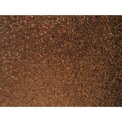 Foglio Mousse Gomma Crepla  20x30 cm Marrone Glitter - 1  pz