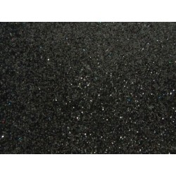EVA Foam 20x30 cm Black Glitter  - 1 Sheet