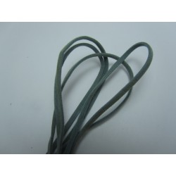 Velveteen Cord  Double-sided   3x1 mm  Grey , Piece of 1 m  -  1  pc
