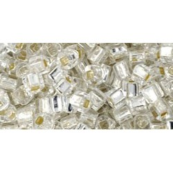 Toho Cubes 3 mm Silver-Lined Crystal