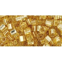 Toho Cubes 3 mm Silver-Lined Light Topaz