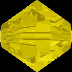 Swarovski Bicone 5328  4 mm  Yellow  Opal  - 40 pcs