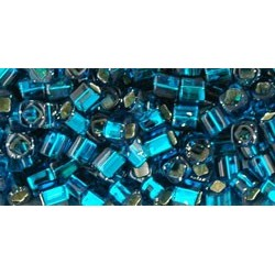 Toho Cubes 3 mm Silver-Lined Teal