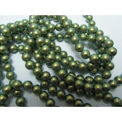 Swarovski  Pearls 5810  4 mm  Iridescent Green Pearl - 20  Pcs