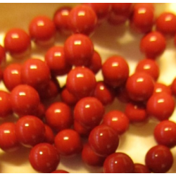 Swarovski  Pearls 5810  6 mm  Red Coral  Pearl - 10  Pcs