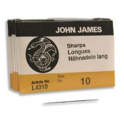 John James  Needles Sharps Size 10  30 mm - 25 pcs