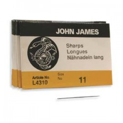 John James  Needles Sharps Size 11  30 mm - 25 pcs