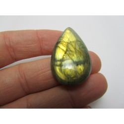 Natural  Labradorite Drop Cabochon  38 x 21   mm - 1 pc
