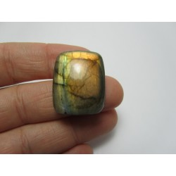 Natural  Labradorite Rectangular  Cabochon  26 x 20   mm - 1 pc