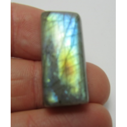 Natural  Labradorite Rectangular  Cabochon  26 x 12   mm - 1 pc