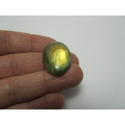 Natural  Labradorite  Oval Cabochon   30  x 18  mm - 1 pc