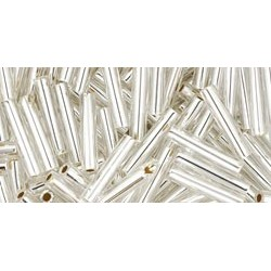 Toho Bugles 9 mm Silver-Lined Crystal