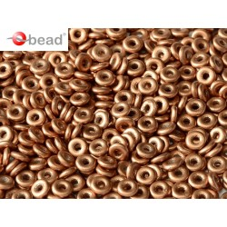 O Bead  4 mm Vintage Copper  - 5  g