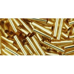 Toho Bugles 9 mm Silver-Lined Light Topaz
