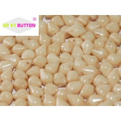 Spiky Button®  4,5x6,5 mm Chalk White Champagne Luster  -  20 Pz