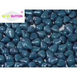 Spiky Button®  4,5x6,5 mm  Chalk White Baby Blue Luster  -  20 pcs