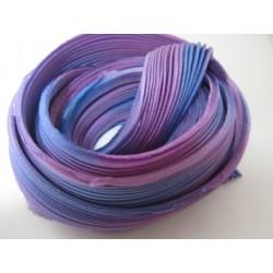 Nastro di Seta Shibori  Lilla/Azzurro  - 10 cm