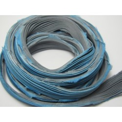 Shibori Silk Ribbon Blue/Grey  - 10 cm