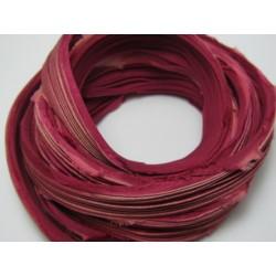 Nastro di Seta Shibori  Rosa Antico Scuro - 10 cm