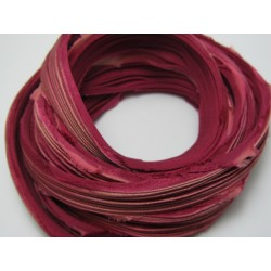 Shibori Silk Ribbon Dark Ancient Rose  - 10 cm