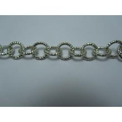 Round Aluminium Chain Diamond Cut 12 mm Silver  Colour  -  1 m