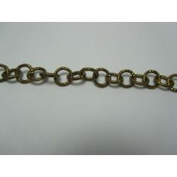 Catena Tonda  Alluminio Diamantata  12 mm Bronzo  -  1 m