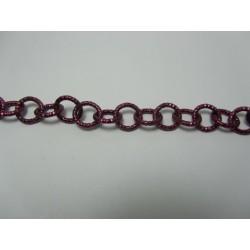 Catena Tonda  Alluminio Diamantata  12 mm Bordeaux  -  1 m