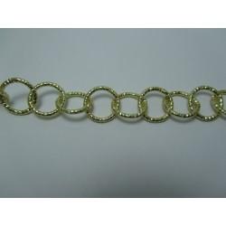 Catena Tonda  Alluminio Diamantata  16 mm  Oro  Chiaro  -  1 m