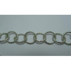 Round Aluminium Chain Diamond Cut 16 mm Silver  Colour  -  1 m