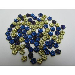 Forget-me-not  5 mm  Crystal  California Blue    - 50 pcs