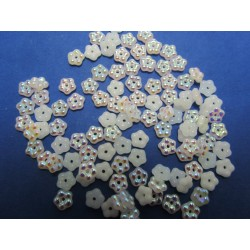 Forget-me-not  5 mm  Alabaster AB   - 50 pcs
