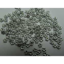 Forget-me-not  5 mm  Silver   - 50 pcs