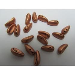 Chilli Beads  4x11 mm  Vintage Copper  - 40 pz