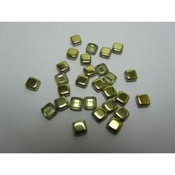 Perline Tile 6 mm Crystal Amber -  40 Pz