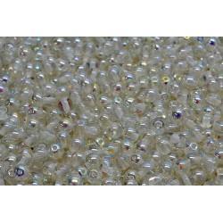 Perle Tonde in Vetro di Boemia  4 mm Crystal Green  Rainbow  - 50  Pz