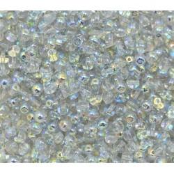 Perle Tonde in Vetro di Boemia  4 mm Crystal Blue  Rainbow  - 50  Pz