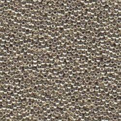 Miyuki Round Seed Beads  15/0  Duracoat Galvanized Silver - 5 g -  cod. 4201