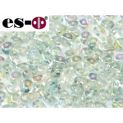 Es-O Beads 5 mm Crystal Blue  Rainbow - 5 g