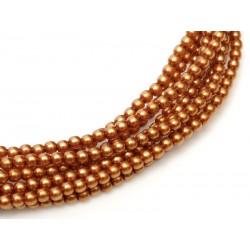 Perle Cerate in Vetro 2 mm Copper  - 50  Pz
